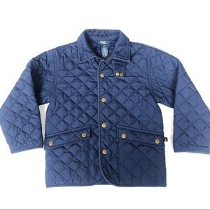 Polo by Ralph Lauren Navy Quilted Jacket Size 4T